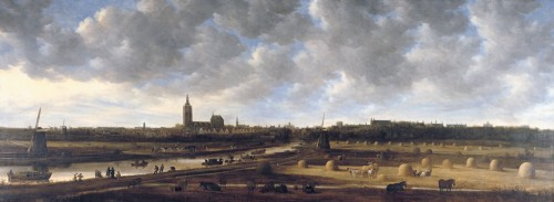 View of The Hague from the south-east *oil on canvas *460 x 174 cm *1650 - 1651